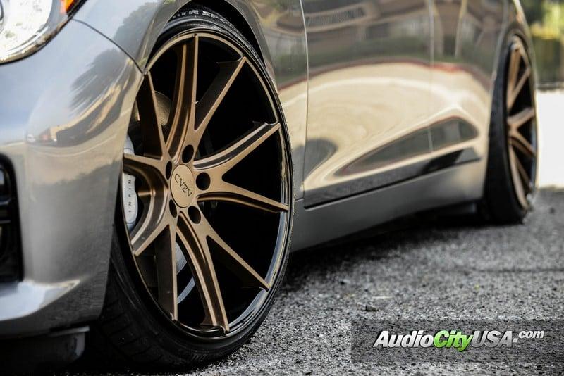 20 Quot Staggered Azad Wheels Az36 Bronze W Black Deep Concave