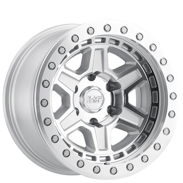 "17"" Black Rhino Wheels Reno Beadlock Silver With Mirror"