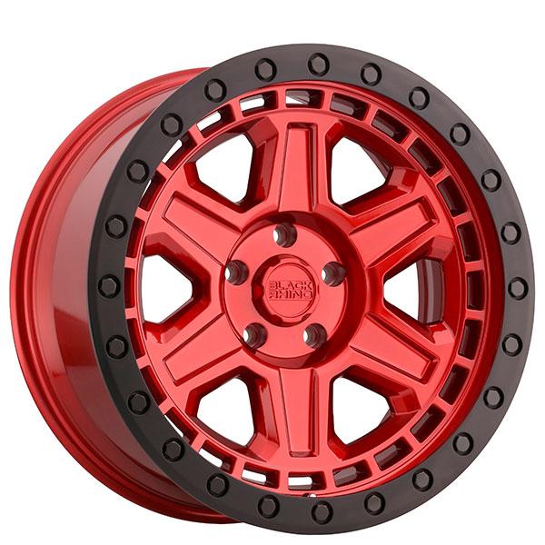 "18"" Black Rhino Wheels Reno Candy Red With Black Lip Edge"
