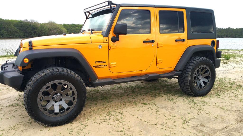 "2004 Jeep Wrangler Lift Kit >> 22"" Black Rhino Wheels Warlord Matte Gunmetal Off-Road ..."