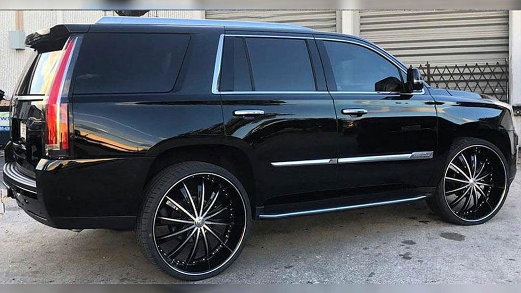 "24"" Borghini Wheels B19 Black Machined Rims"