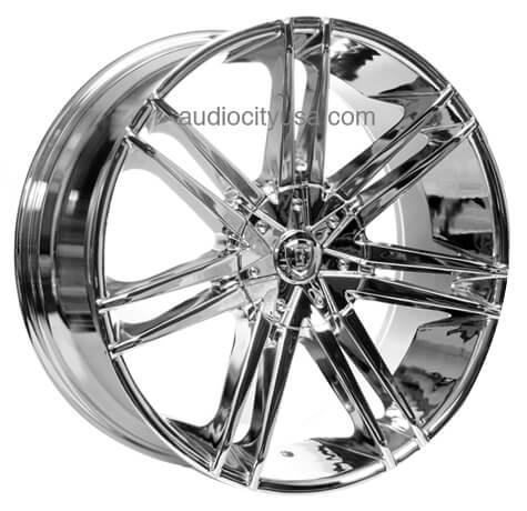 "22x8.5"" Borghini Wheels B20 Chrome Rims"