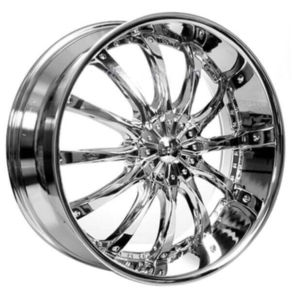 "22"" Borghini Wheels B8 Chrome Rims #BOR046-4"
