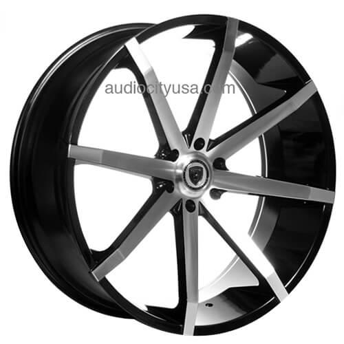 "Mazda 3 Bm Bn 2014 2019: 24"" Borghini Wheels B29 Black Machined Rims #BOR030-1"