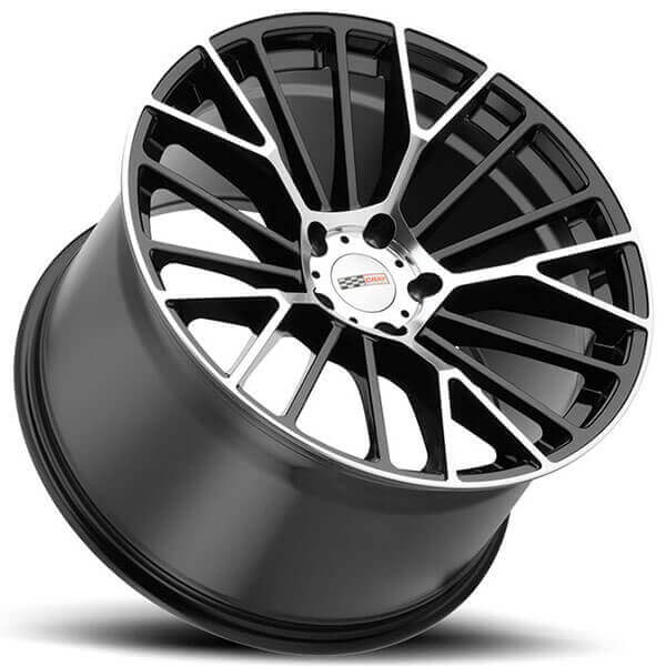 Cray Wheels Astoria Gloss Black with Mirror Cut Face Rotary Forged Rims