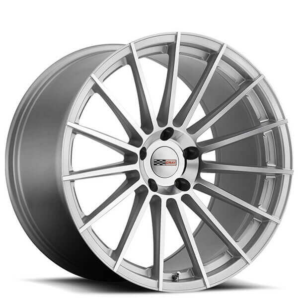 Cray Wheels Mako Silver with Mirror Cut Face Rotary Forged Rims