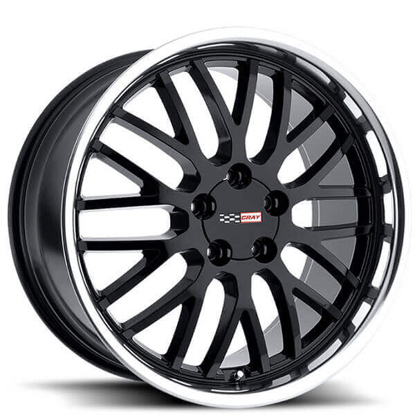 Cray Wheels Manta Gloss Black with Mirror Cut Lip Rims