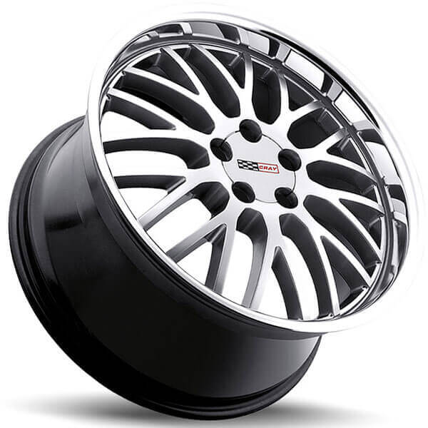 Cray Wheels Manta Hyper Silver with Mirror Cut Lip Rims