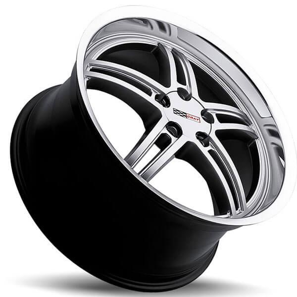 Cray Wheels Scorpion Hyper Silver with Mirror Cut Lip Rims