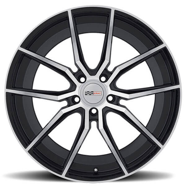 Cray Wheels Spider Gloss Black with Mirror Cut Face Rotary Forged Rims