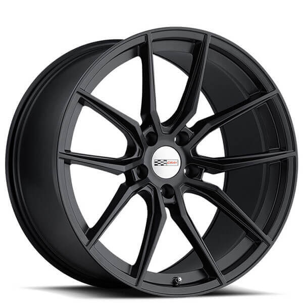 Cray Wheels Spider Matte Black Rotary Forged Rims