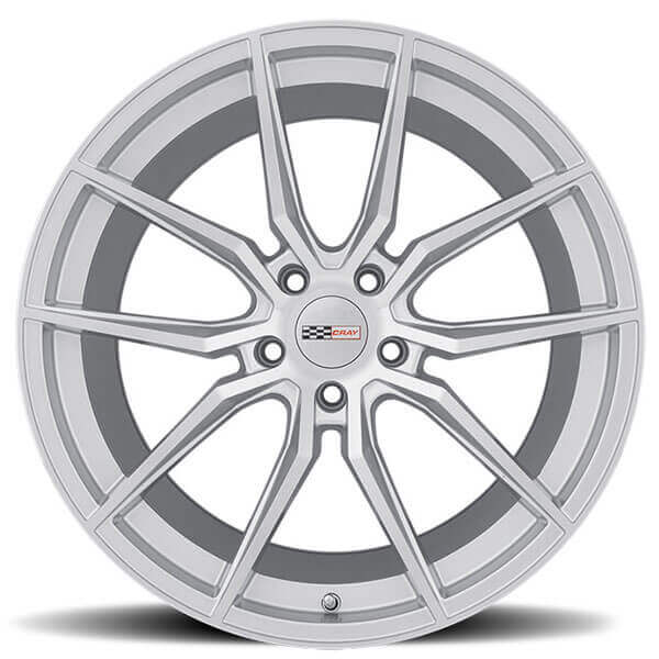 Cray Wheels Spider Silver with Mirror Cut Face Rotary Forged Rims