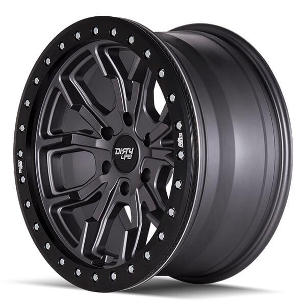 "Bmw Jeep: 17"" Dirty Life Wheels Racing 9303 DT-1 Matte Gunmetal Off"