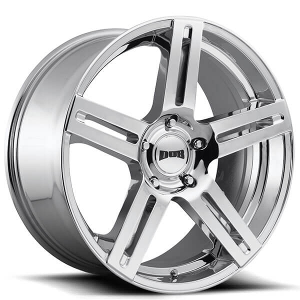 "24"" Dub Wheels ROC S249 Chrome Rims"
