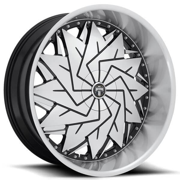 "26"" Dub Wheels Dazr S234 Gloss Black Machined Rims"