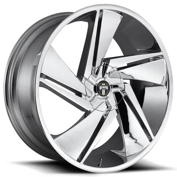 """22"""" Dub Wheels Fade S246 Chrome Rims"""