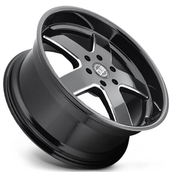 "Black Wheels Dub Alloys: 26"" Dub Wheels Big Baller S223 Gloss Black Milled Rims"
