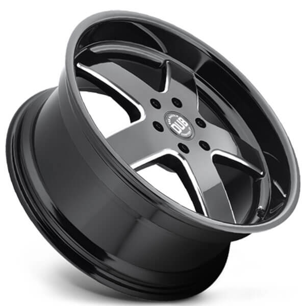"22"" Dub Wheels Big Baller S223 Gloss Black Milled Rims"