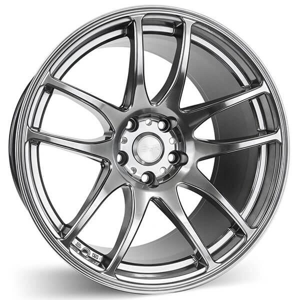 "18"" Staggered ESR Wheels SR08 Hyper Black JDM Style Rims"
