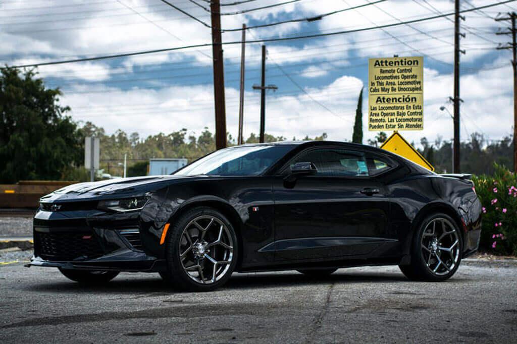 "20"" Staggered Factory Flow Form Wheels V028 Black Chrome ..."