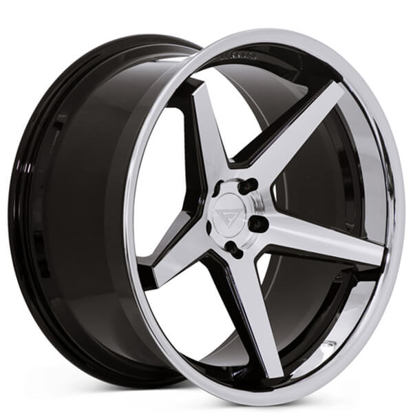 22 Quot Staggered Ferrada Wheels Fr3 Black Machined Chrome Lip
