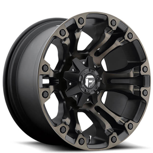 "20"" Fuel Wheels D569 Vapor Black Machined with Dark Tint Off-Road Rims"