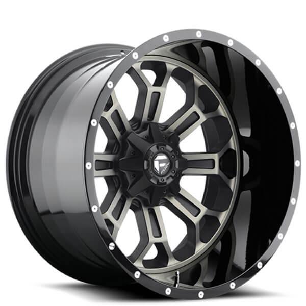 "20"" Fuel Wheels D268 Crush Black Machined With Dark Tint"