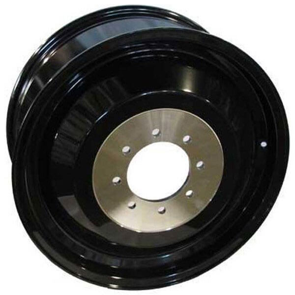 """Cleaver 2001: 20"""" Fuel Wheels D574 Cleaver Dually Gloss Black Milled Off"""