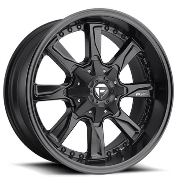 "20"" Fuel Wheels D604 Hydro Matte Black Off-Road Rims #FL003-3"