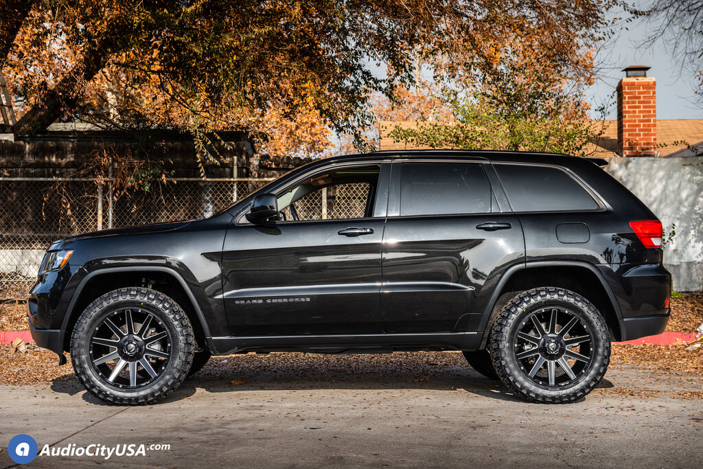 Jeep Grand Cherokee Off Road >> 22 Fuel Wheels D616 Contra Matte Black Milled Off Road Rims