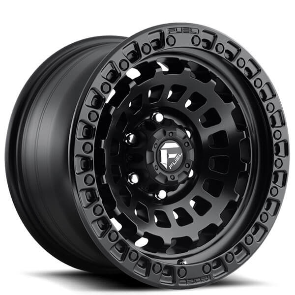 "17"" Fuel Wheels D633 Zephyr Matte Black Off-Road Rims"