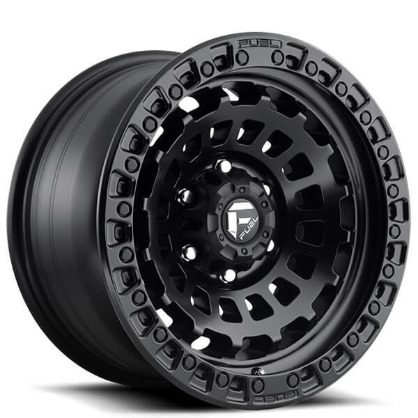 "17"" Fuel Wheels D633 Zephyr Matte Black Off-Road Rims"