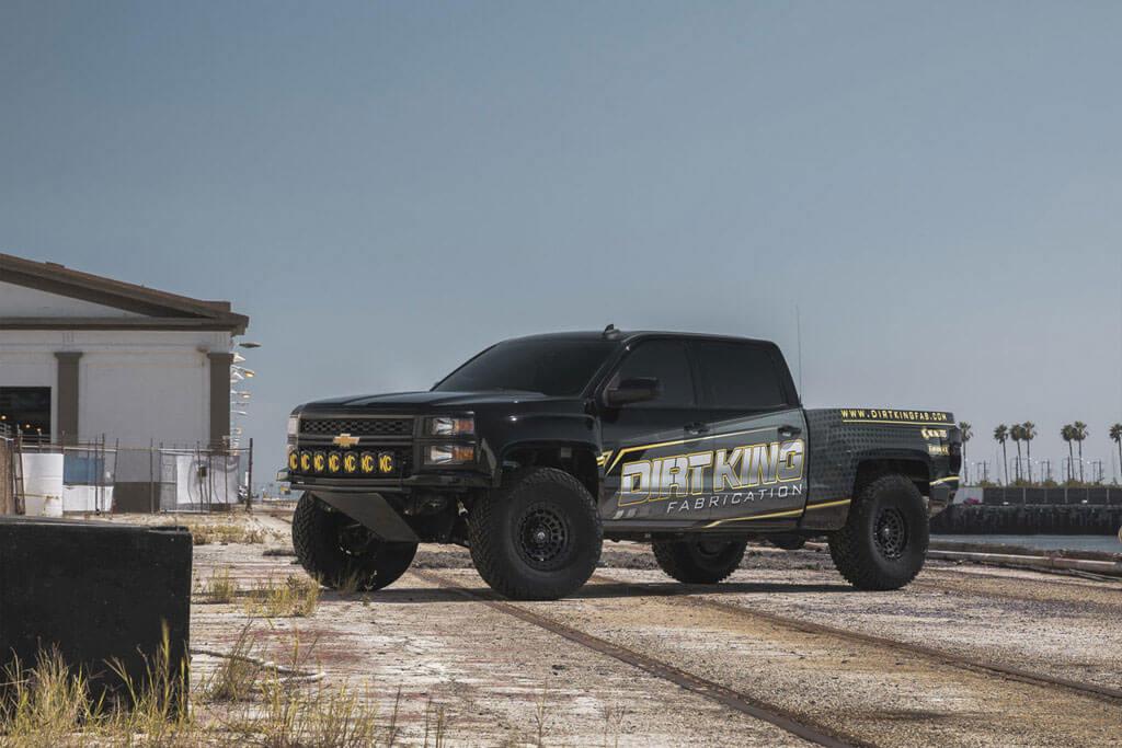 "20"" Fuel Wheels D633 Zephyr Matte Black Off-Road Rims #FL205-3"