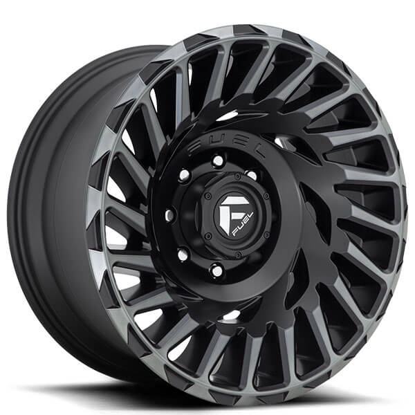 "20"" Fuel Wheels D683 Cyclone Matte Black with Machined Face and Double Dark Tint Off-Road Rims"