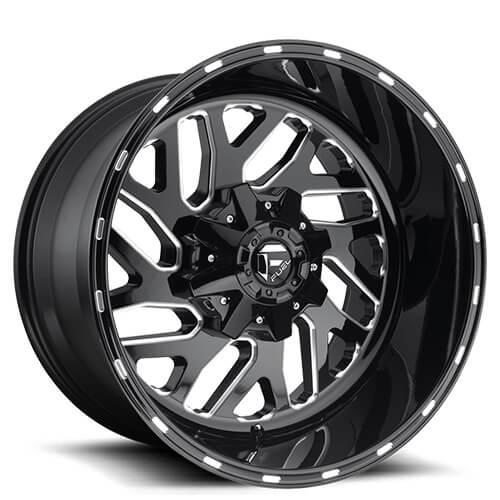 20 Quot Fuel Wheels D581 Triton Black Milled Rims Fl067 1