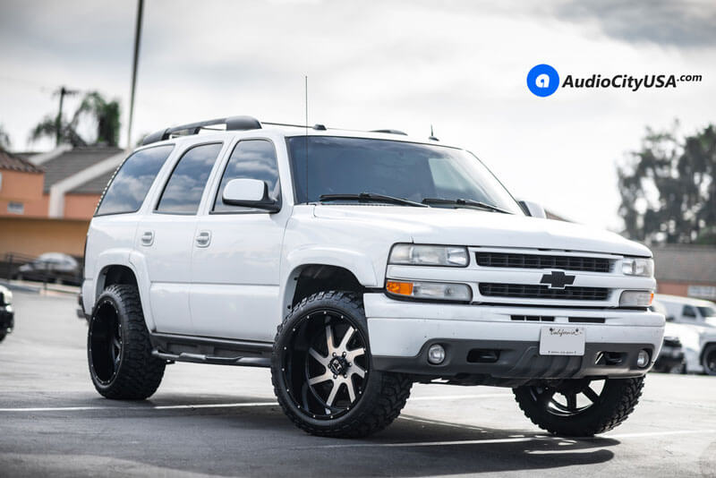 Full Throttle Wheels Ft Black Machined Rims Audiocityusa on 1997 Chevy Tahoe Z71