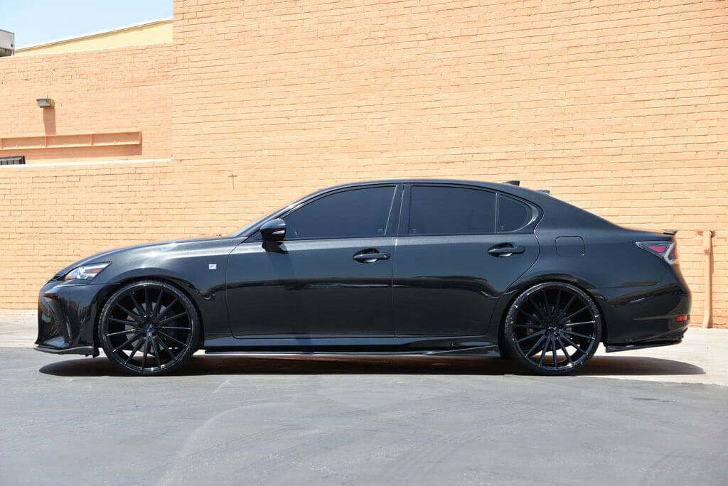 """Off Road Rims And Tires Package >> 2016 Lexus GS350 22"""" Staggered Wheels + Tires + Suspension ..."""