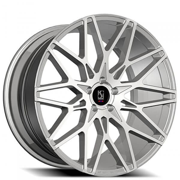 "22"" Koko kuture Wheels Funen Silver Machined Rims"
