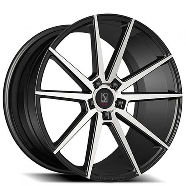 "20"" Koko Kuture Wheels Le Mans Black Machined Rims"