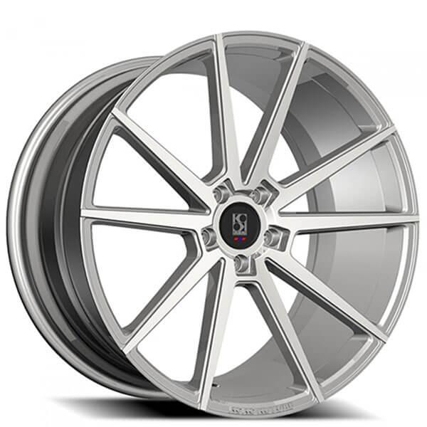 "20"" Koko Kuture Wheels Le Mans Silver Machined Rims"
