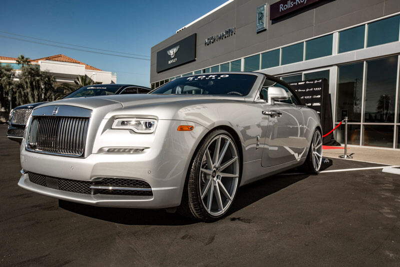 """22"""" Staggered Koko Kuture Wheels Le Mans Silver Machined Rims"""