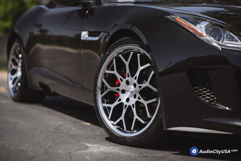 "24"" Giovanna Wheels Nove FF Diamond Cut Black with Chrome SS Lip Rims"