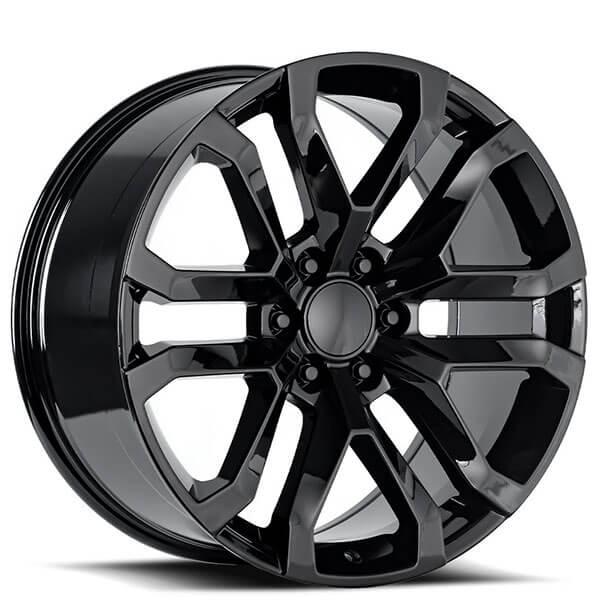 "22"" GMC Denali Wheels FR 95 Gloss Black OEM Replica Rims"