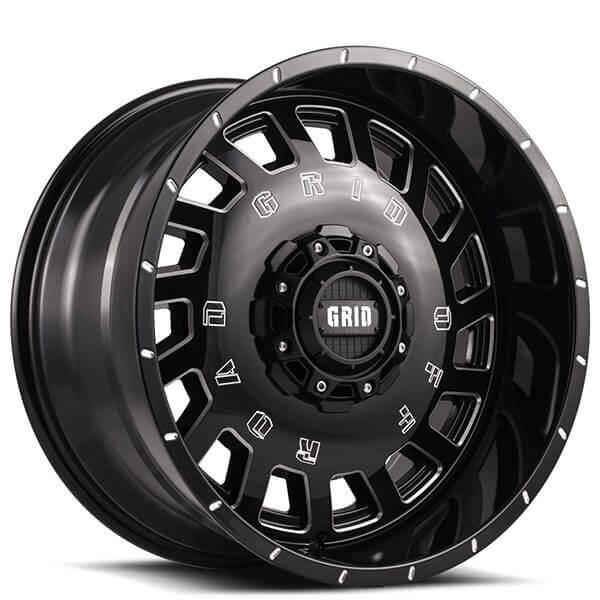 Grid Wheels GD3 Gloss Black Milled Off-Road Rims