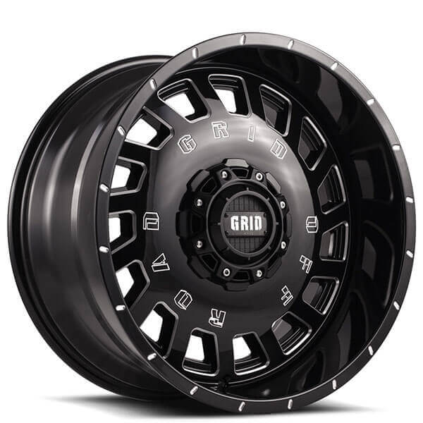 Grid Wheels GD3 Gloss Black Milled Off-Road Rims