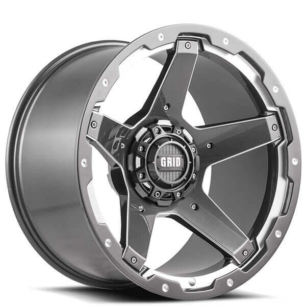 Grid Wheels GD4 Gloss Graphite Milled Off-Road Rims