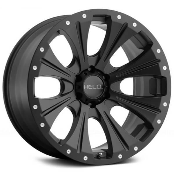 "18"" Helo Wheels HE901 Satin Black Off-Road Rims"