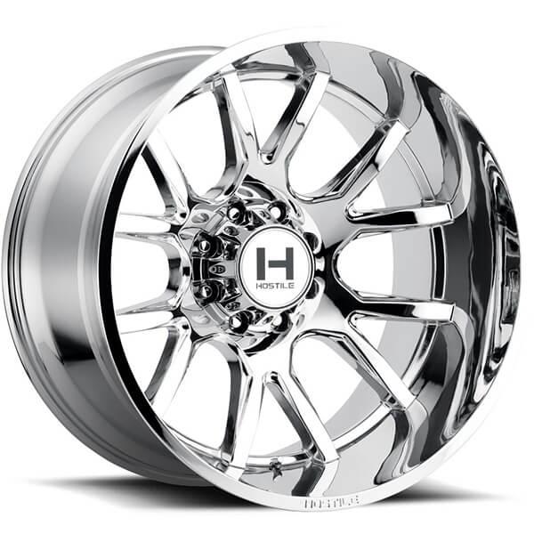 "22"" Hostile Wheels H113 Rage Chrome Off-Road Rims #HST078-2"