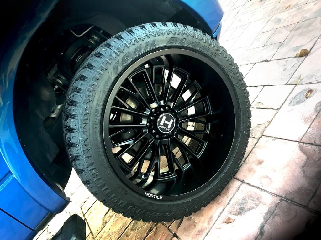 22 Quot Hostile Wheels H114 Fury Satin Black Off Road Rims