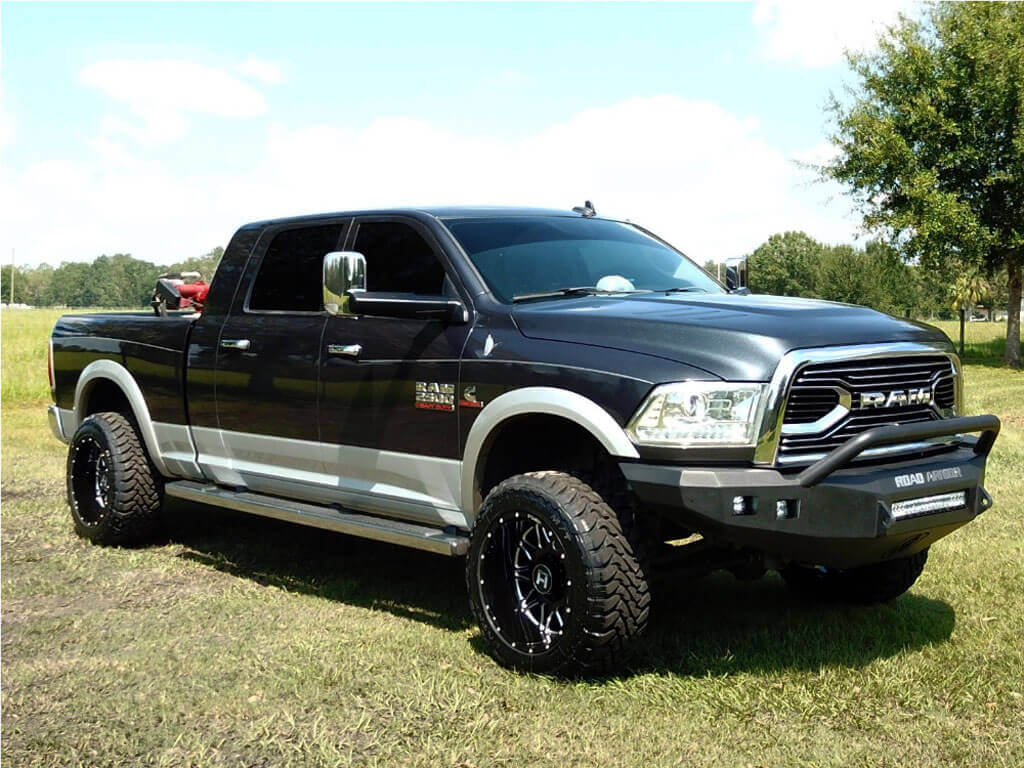 """2017 Ram 2500 Leveling Kit >> 20"""" Hostile Wheels H111 Blaze Gloss Black with Milled Accents Off-Road Rims #HST058-1"""
